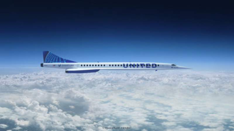 United Airlines Boomaero 'Overture' airliner