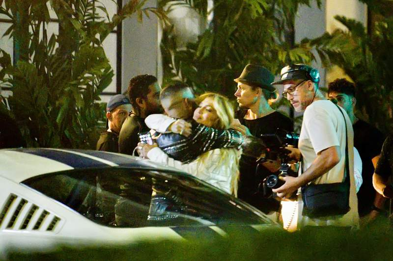 J-Lo filming a music video on Espanola Way