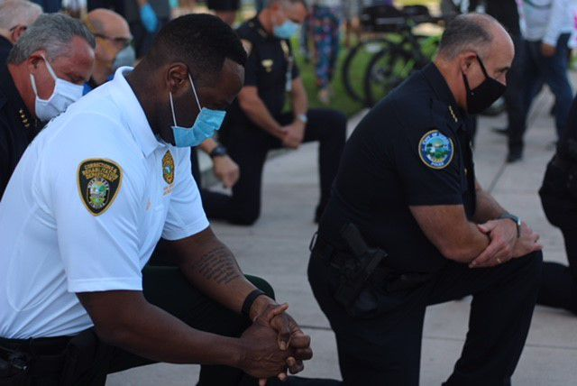 Peaceful Coral Gables protest against police brutality ends with prayer
