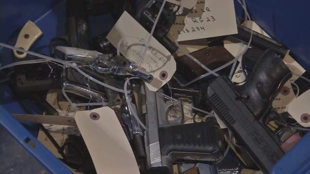 Organizers say they collected over 800 guns today.