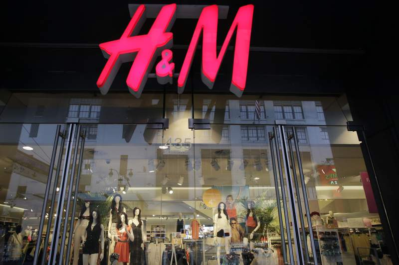 FILE - In this May 31, 2013, file photo, an H&M store is shown in New York. A German privacy watchdog said Thursday that it is fining clothing retailer H&M 35.3 million euros ($41 million) the company was found to have spied on some of its employees in Germany. (AP Photo/Mark Lennihan, File)