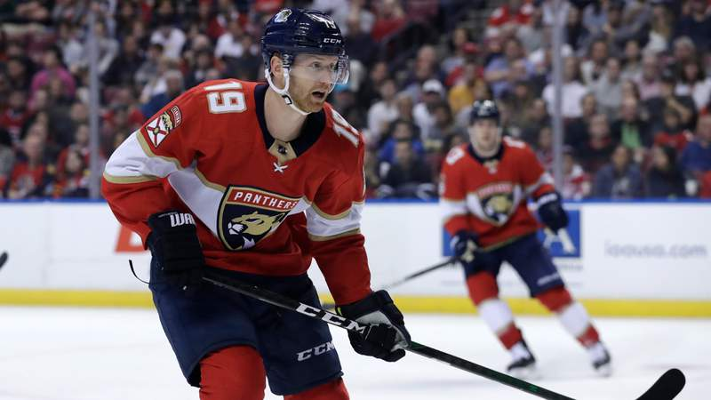 Florida Panthers defenseman Mike Matheson skates against the Montreal Canadiens, Sunday, Dec. 29, 2019.