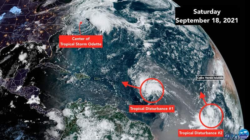 Satellite imaging for Atlantic tropics