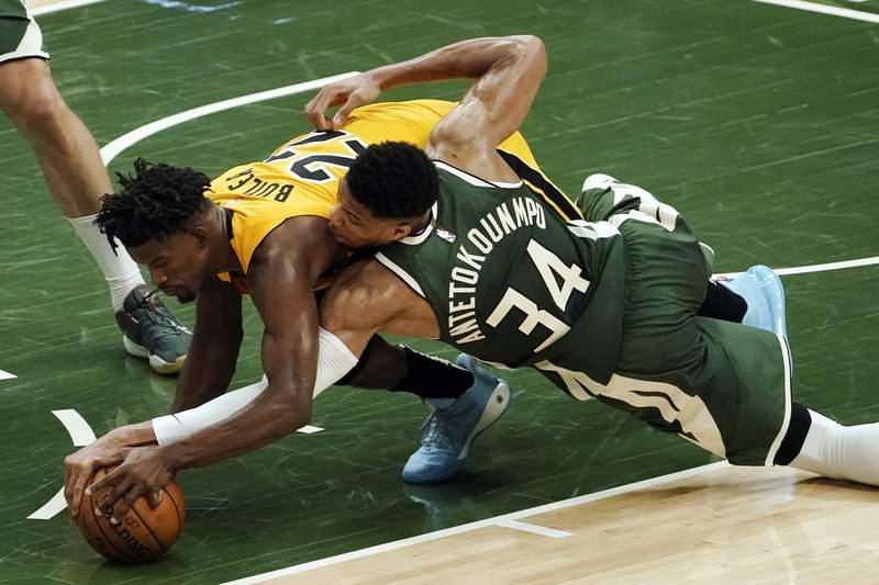 Jimmy Butler and the Miami Heat will tangle with Giannis Antetokounmpo's Milwaukee Bucks to start next season.