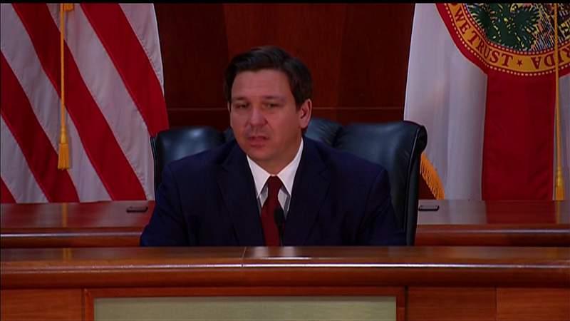 Gov. Ron DeSantis talks about education and the future of Florida schools amid the coronavirus