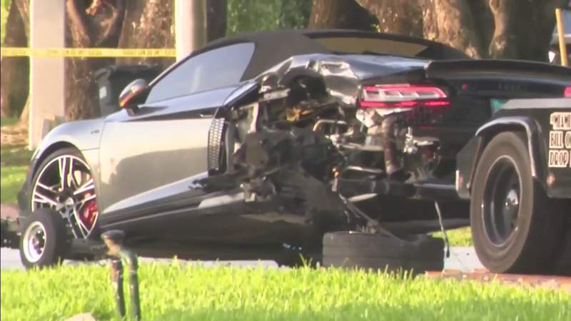 Deadly chain-reaction crash involved 3 sports cars in Miami Beach