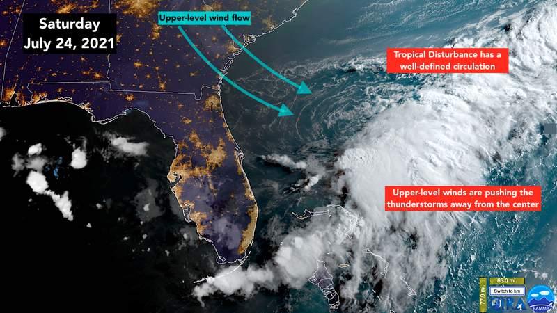 Tropical disturbance off Florida coast