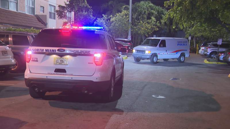 Scene of shooting in North Miami.
