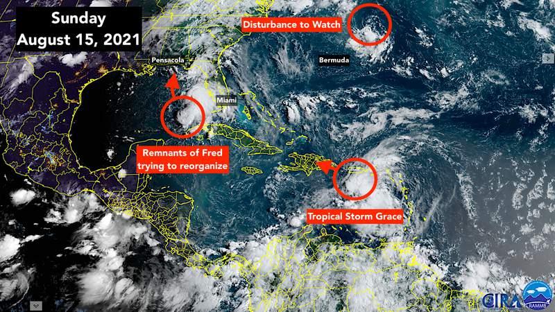 Atlantic tropics satellite imaging