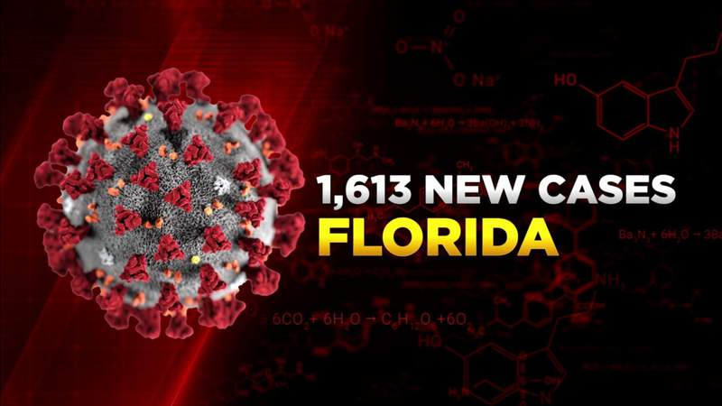Florida's 1,613 COVID-19 cases Monday are fewest in 6 months