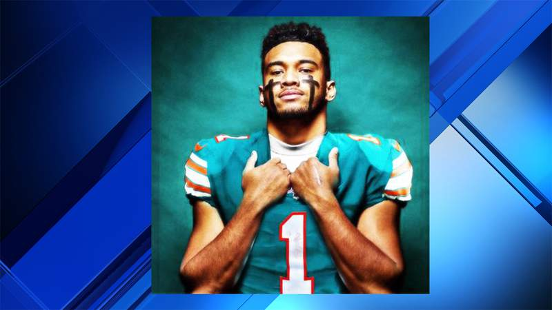 Dolphins QB Tua Tagovailoa announced that he would wear jersey No. 1 in a Tweet.