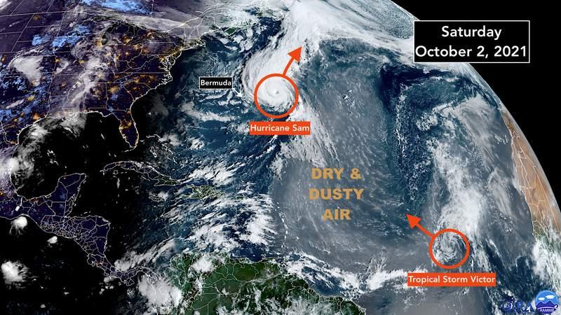 Tropical Atlantic satellite imaging for Oct. 2, 2021.