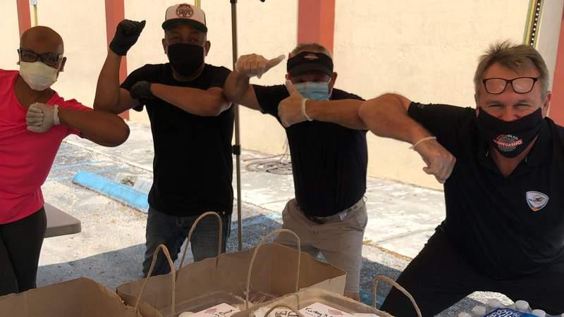 John Offerdahl (Offerdahl's Off-The-Grill), Kim Bokamper (Bokamper's Sports Bar & Grill), Bob Brudzinski (Bru's Room Sports Grill) and legendary Coach Don Shula are fighting hunger during the pandemic.