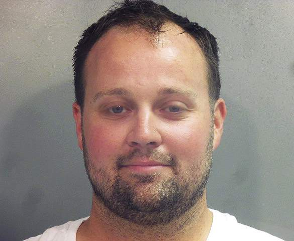 This photo provided by the Washington County (Ark.) Jail shows Joshua Duggar. Former reality TV Star Josh Duggar is being held in a northwest Arkansas jail after being arrested, Thursday, April 29, 2021 by federal authorities, but its unclear what charges he may face.  (Washington County Arkansas Jail via AP)