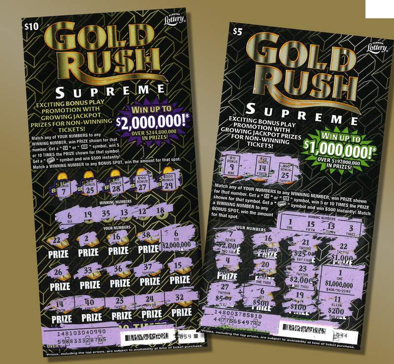Florida Lottery tweeted this photo in announcing two more top-prize winners on scratch-offs.