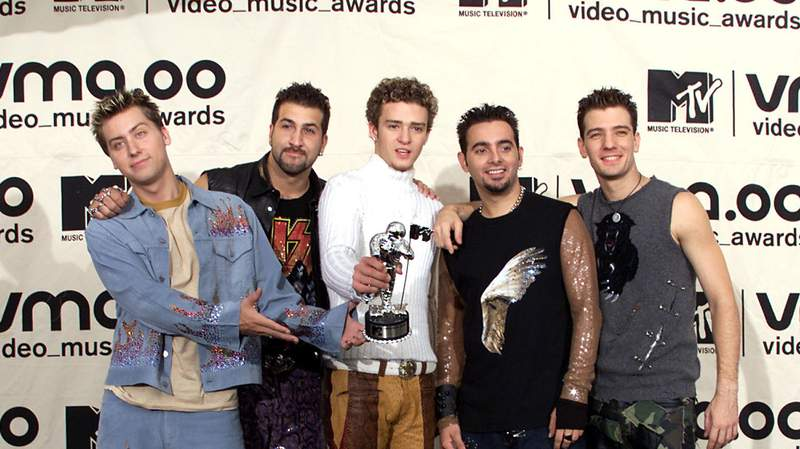NSYNC at MTV Video Music Awards 2000.