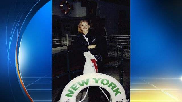 """Virginia Roberts in photo she claims was taken by Epstein on a ferry boat in New York when she was """"15 or 16."""""""