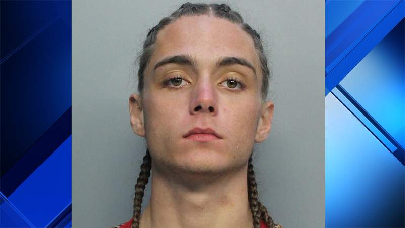 Officers arrested Nathan Roe, 18, on Wednesday in Miami Beach.