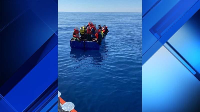 Cuban migrants repatriated by the Coast Guard.
