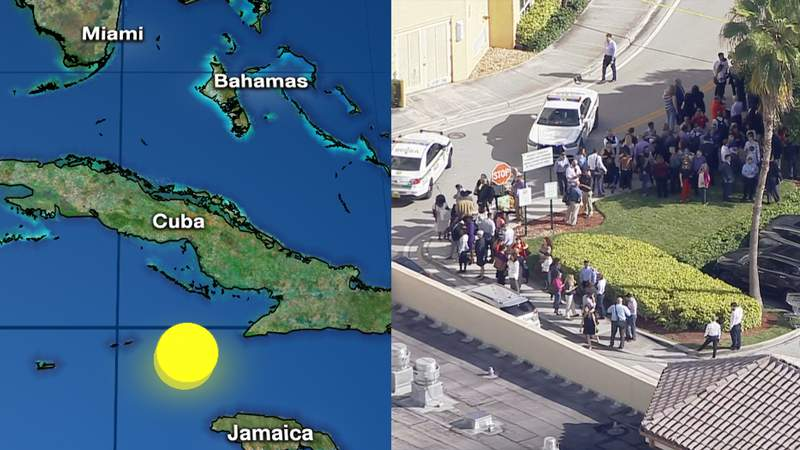 South Florida feels earthquake centered south of Cuba