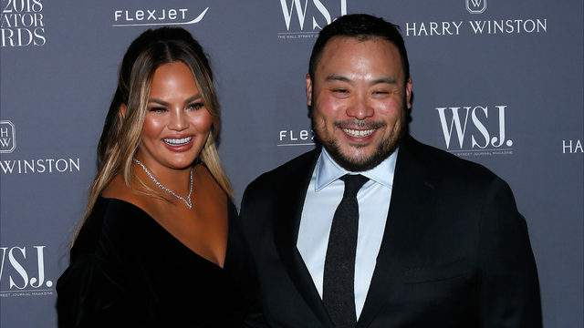 Chrissy Teigen and David Chang. (Photo by Lars Niki/Getty Images for WSJ. Magazine Innovators Awards).
