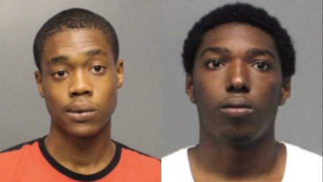 Jahni Smith (leff) and Joshua Johnson were arrested in connection with a shooting at Scott Park in May.