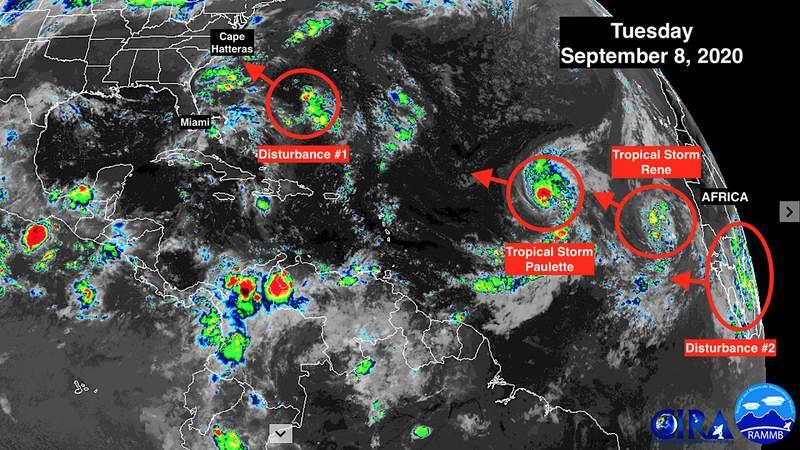 Sept. 8 satellite image of the tropics.