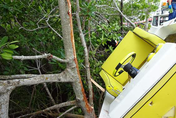 A 59-year-old boater was airlifted to Jackson Trauma Center after a crash in Key Largo.