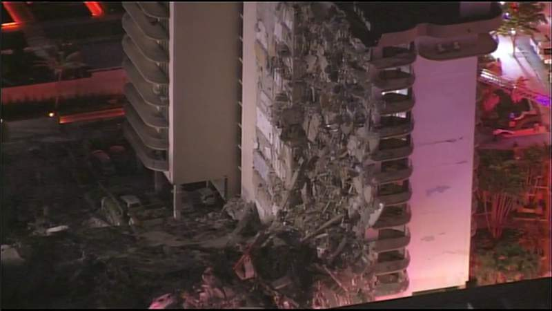Videos show stack of portion of Surfside building collapsed into 'concrete pancakes'