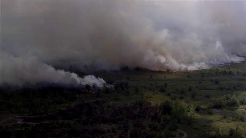 Wildfire rages since Friday in Miami-Dade County