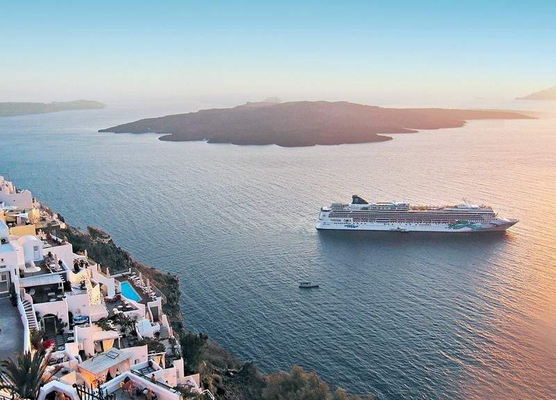 Norwegian Jade sets sail from Athens after 500 days.