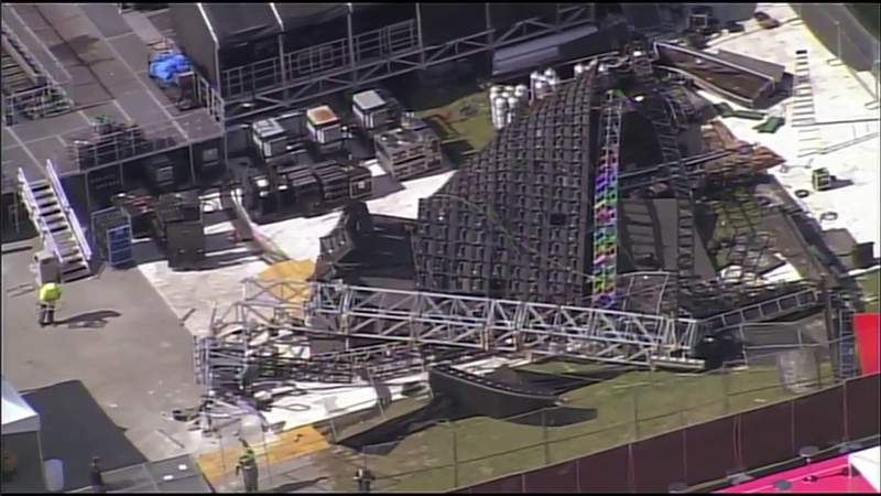 Video wall collapses day before Rolling Loud music festival