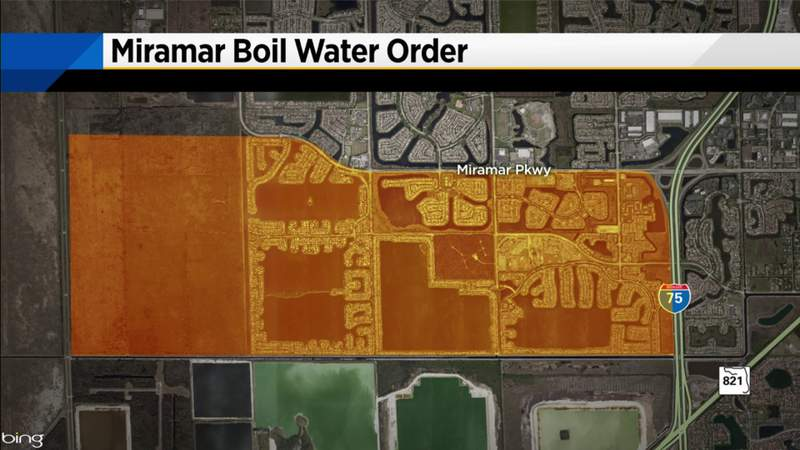 Officials issue boil water advisory in Miramar