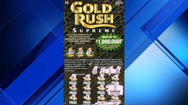 This is the ticket that delivered a $1 million top prize to a lucky Pasco County woman.