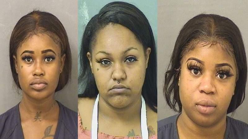 From left: Brianna Toombs, 19, Chloe Arieigha Hernandez, 21, and Joanna Ceidi, 19.