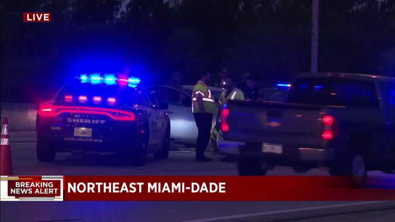 Multiple vehicles involved in crash on I-95 in northeast Miami-Dade