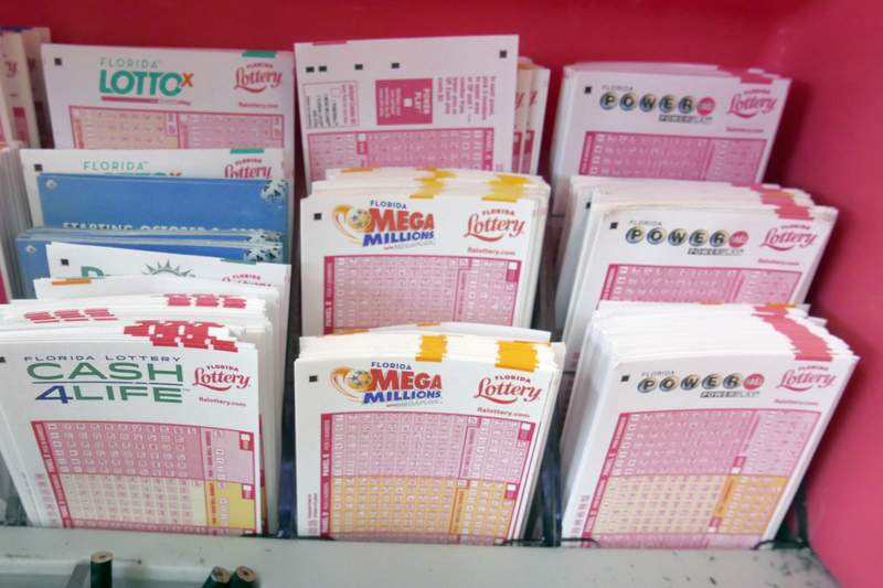 Florida Lottery tickets are seen at a store in this file photo.