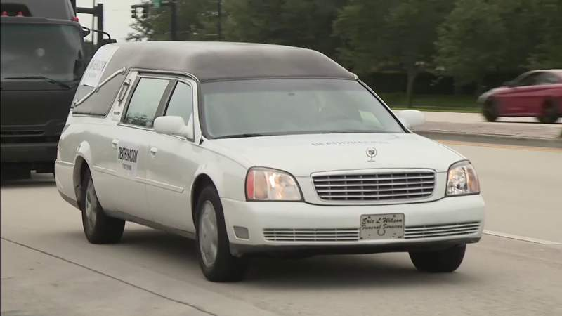 Church in Broward holds unique protest, led by hearse