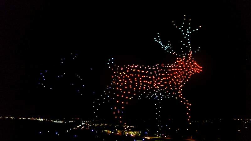 Walmart Holiday Drone Light Show.