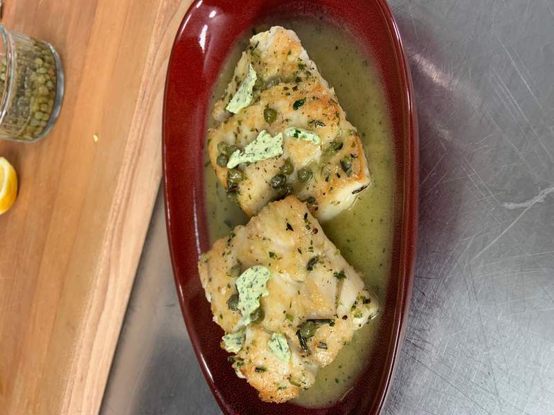 Quick Seared Fish with Compound Butter Sauce