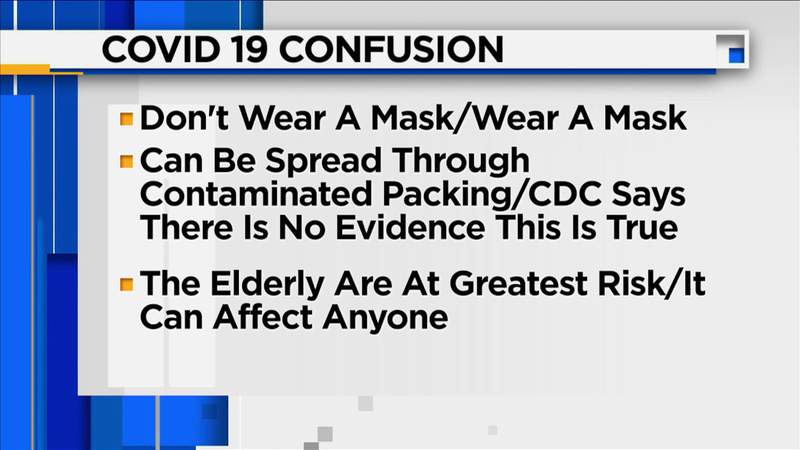 Conflicting messages about COVID-19 causing confusion