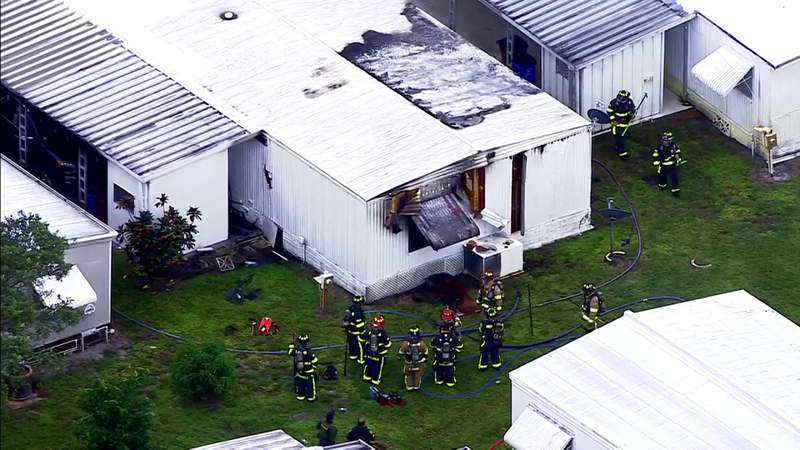 Woman killed after mobile home goes up in flames