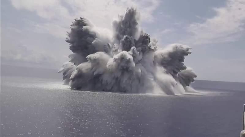 Military explosion off Florida's coast causes earthquake