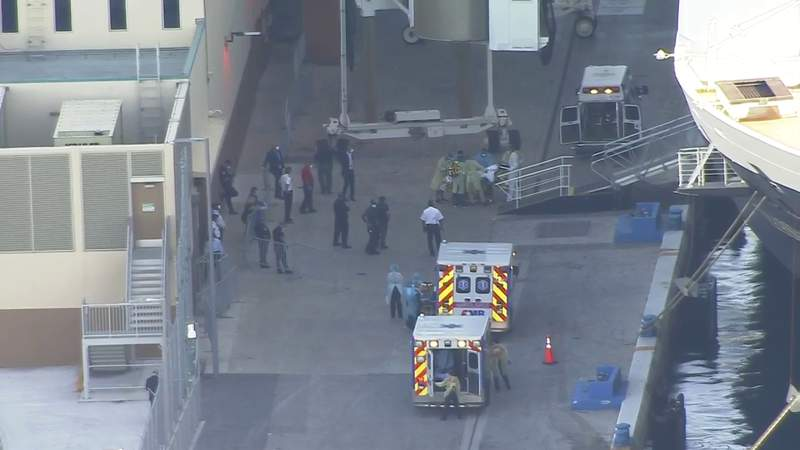 Critically ill passengers being taken from cruise ships to Broward Health