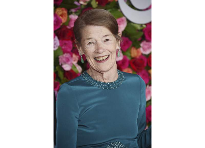 """FILE - Glenda Jackson arrives at the 72nd annual Tony Awards in New York on June 10, 2018.  Jackson will star in """"Elizabeth is Missing"""", a BAFTA-nominated mystery, kicking off the 50th Anniversary of the MASTERPIECE series, premiering on Sunday, January 3, 2021 on PBS. (Photo by Evan Agostini/Invision/AP, File)"""
