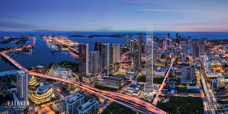 Rendering of E11EVEN Hotel & Residences Miami.