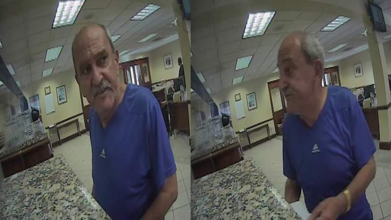 A man is captured on surveillance video robbing a BB&T Bank branch in Miami.