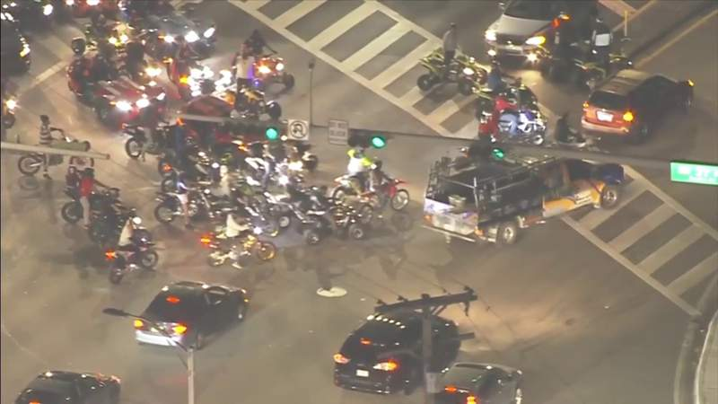 Large police presence and smaller number of riders for latest Wheels Up, Guns Down ride