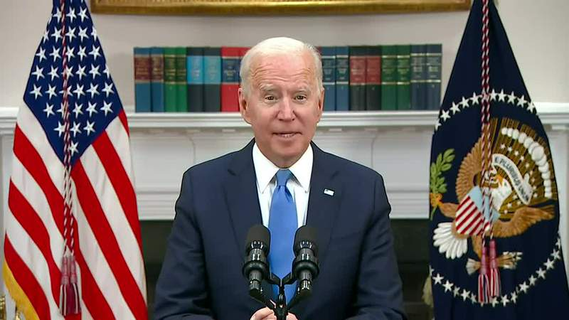 President Joe Biden gave remarks about the Colonial Pipeline, which was shut down for several days due to a ransomware attack.