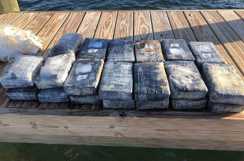 A fisherman near Sugarloaf Key finds cocaine floating and contacts Monroe County Sheriff's office.